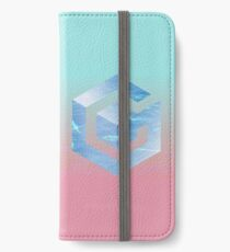 VAPORWAVE GAMECUBE LOGO iPhone Wallet/Case/Skin
