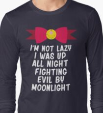 Fighting Evil By Moonlight Long Sleeve T-Shirt