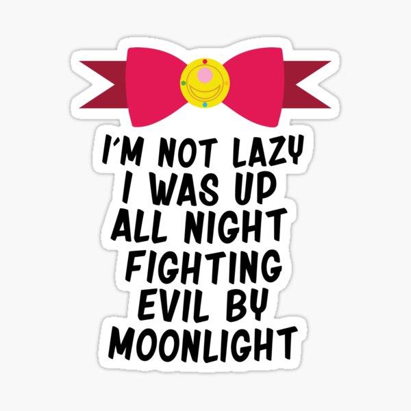 Fighting Evil By Moonlight Sticker