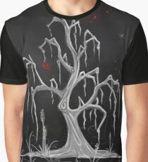Red Moon White Willow Graphic T-Shirt