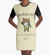 Alexander Hamilcat (Schwarzer Text) T-Shirt Kleid