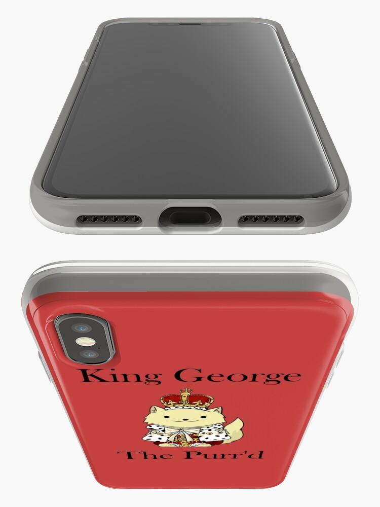 Vista alternativa de Funda y vinilo para iPhone El rey Jorge el Purr'd