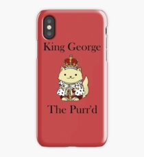 King George the Purr'd iPhone Case