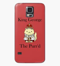 King George the Purr'd Case/Skin for Samsung Galaxy