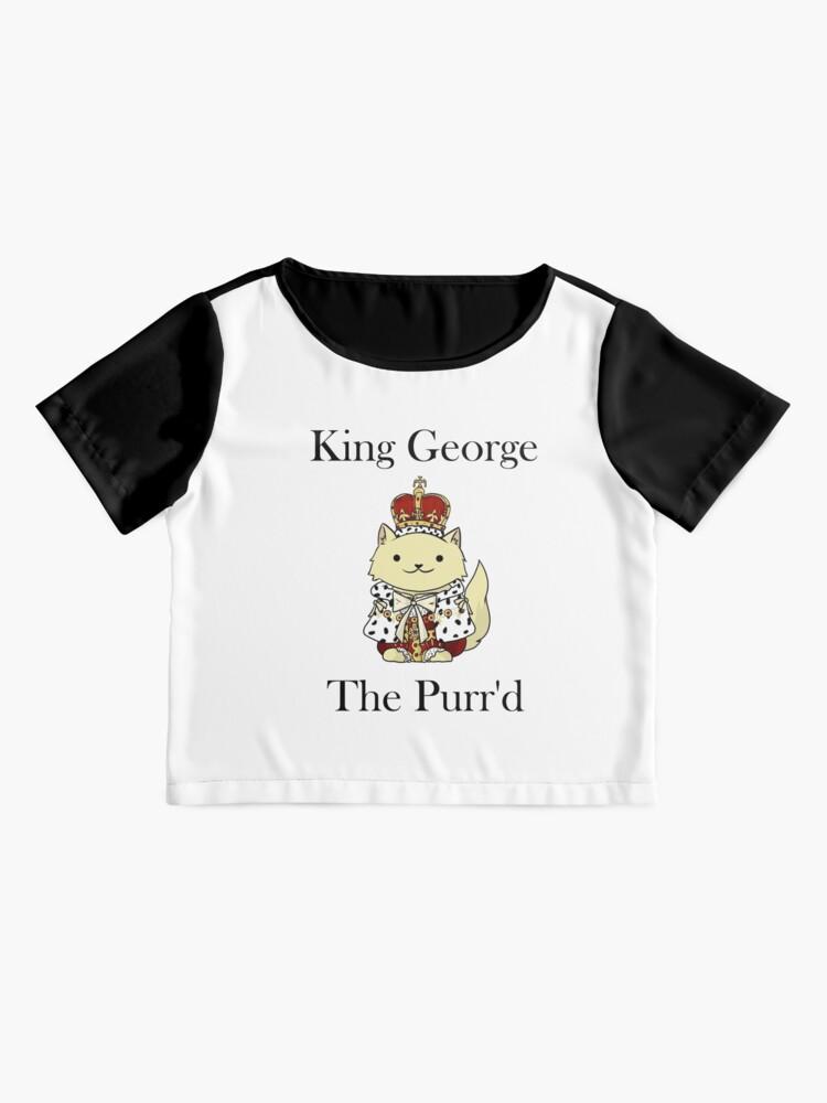 Vista alternativa de Blusa El rey Jorge el Purr'd