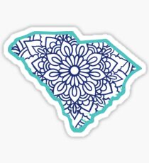 South Carolina Mandala Sticker
