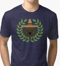 Sombrero Bear Tri-blend T-Shirt
