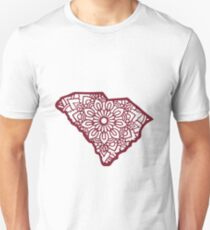 Maroon South Carolina Mandala T-Shirt