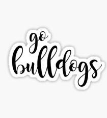 go bulldogs Sticker