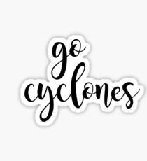 go cyclones Sticker