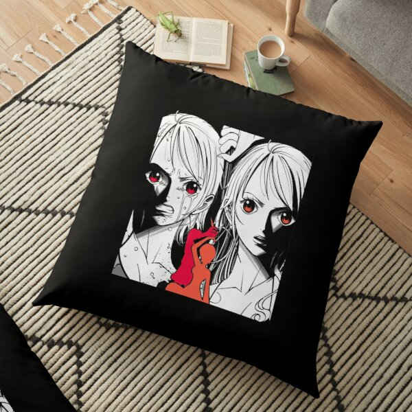 One Pece Nami Tattoo| Perfect Gift For you and friends | One Piece gift Floor Pillow