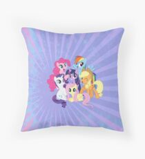 My Little Ponies Throw Pillow