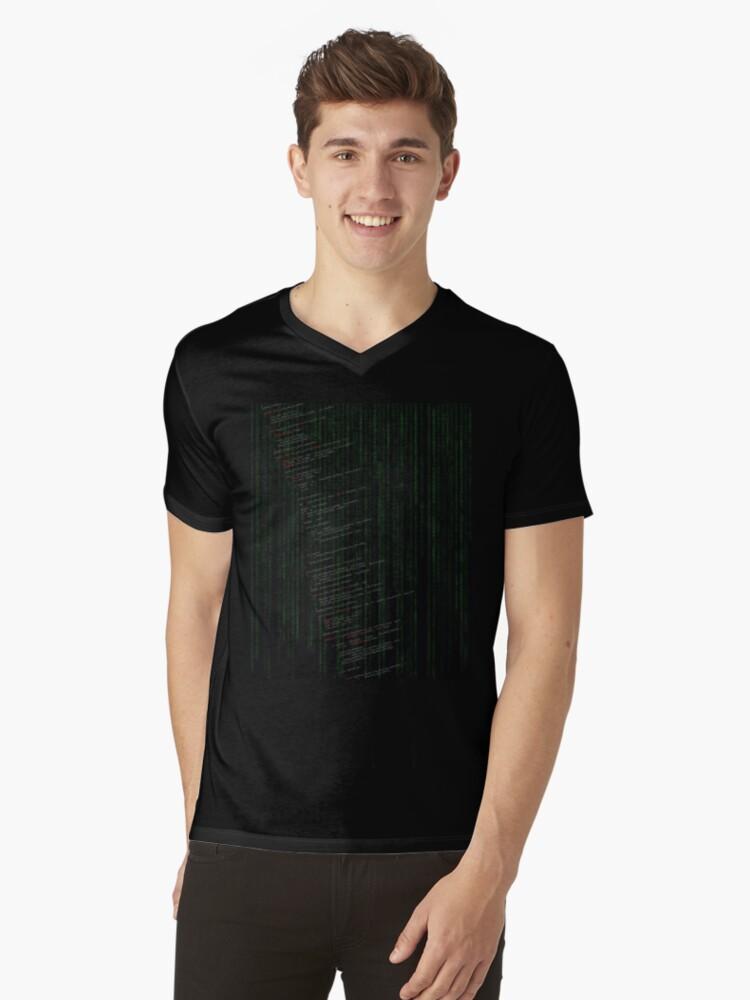 Linux kernel code Mens V-Neck T-Shirt Front