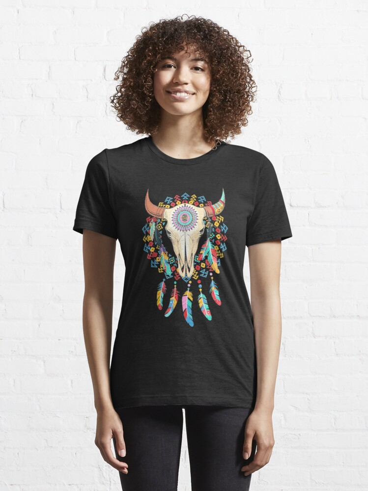 Alternate view of Cow Skull Awesome Holidays Essential T-Shirt
