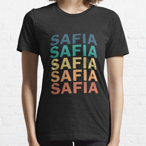 Safia Name T Shirt - Safia Vintage Retro Safia Name Gift Item Tee Essential T-Shirt