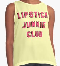 LIPSTICK JUNKIE CLUB | MAKEUP GRAPHIC TEXT ONLY PRINT Contrast Tank
