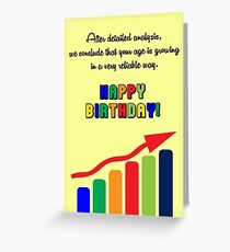 Happy Birthday - Graph Greeting Card