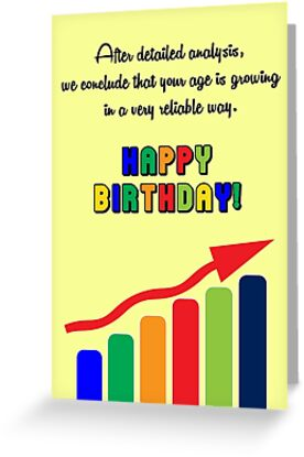 Quot Happy Birthday Graph Quot Greeting Card By Garigots Redbubble
