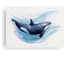 """""""""""Orca Splash"""" by Amber Marine ~ watercolor killer whale"""