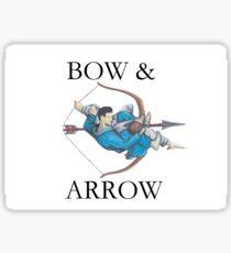 Jiu Jitsu Bow & Arrow Sticker