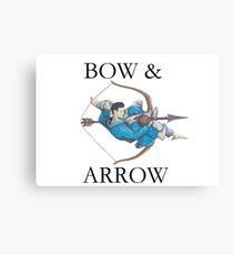 Jiu Jitsu Bow & Arrow Canvas Print