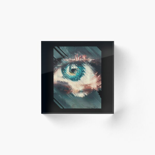 All Seeing Eye (blue)| Perfect Gift For you and friends | big eye gift Acrylic Block