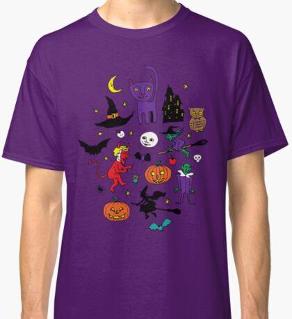 Retro Halloween - original - Halloween pattern by Cecca Designs Classic T-Shirt