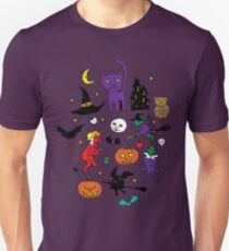 Retro Halloween - original - Halloween pattern by Cecca Designs Unisex T-Shirt
