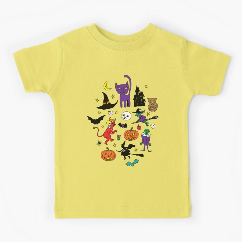 Retro Halloween - original - Halloween pattern by Cecca Designs Kids T-Shirt