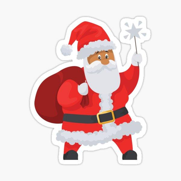 Santa With Sack Suit Sticker