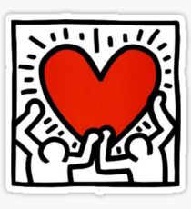 Keith Haring Love Me Sticker
