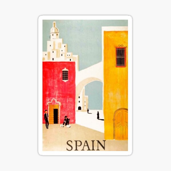 Spain Postcard Sticker