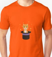 Cat In the magican hat Unisex T-Shirt