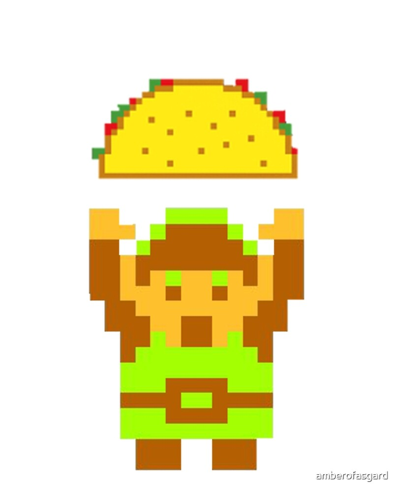 Link and a taco by amberofasgard