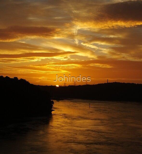 Sunset over the Menai Straits by Johindes