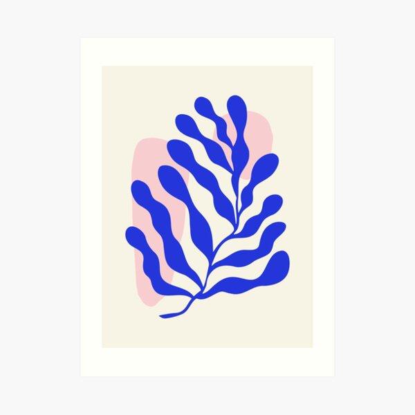 Blue Matisse Ferns Art Print