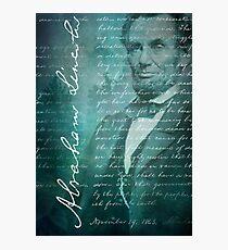 Abraham Lincoln, Gettysburg Address Photographic Print