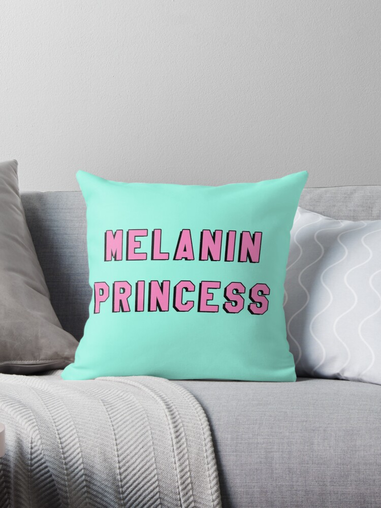 Quot Melanin Princess Black Girl Magic Quote Print Quot Throw