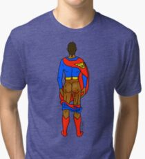 Super Butt (Mocha) Tri-blend T-Shirt