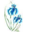 Irises, painted in gouache. by miroshina