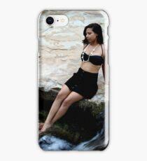 Hispanic Woman Waterfall iPhone Case/Skin