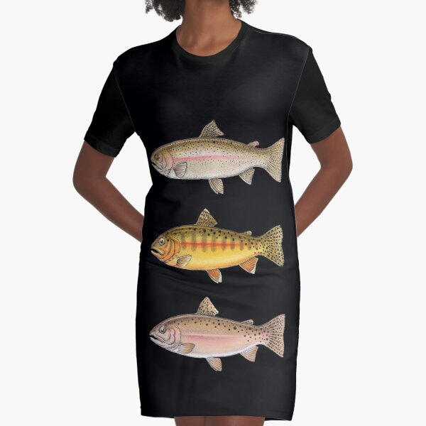 Trout Collection Graphic T-Shirt Dress