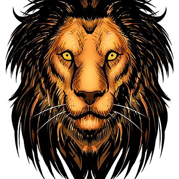 Lion Artwork by Kuauh