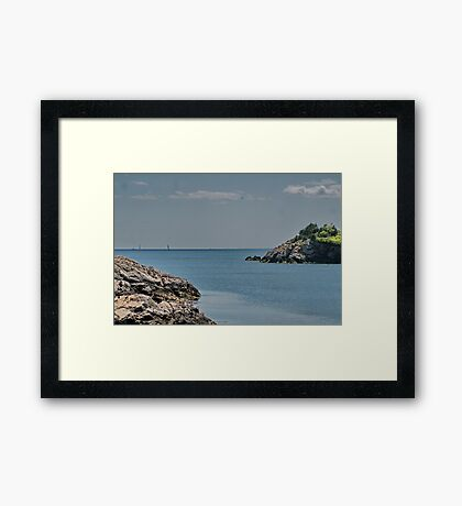 Looking Seaward Framed Print