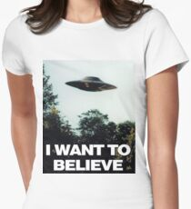 I Want To Believe Edition  Womens Fitted T-Shirt