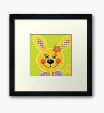 Farm Animals - Rabbit Framed Print