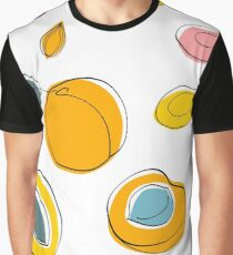 Seamless pattern Apricot jam and dried apricots Graphic T-Shirt