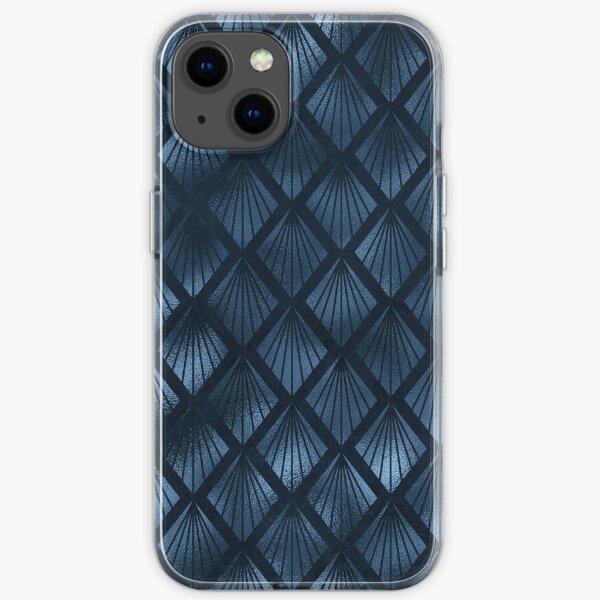 Niedliches Musterdesign mit blauem und goldenem Leoparden iPhone Flexible Hülle