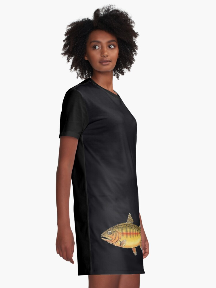 Alternate view of Golden Trout Graphic T-Shirt Dress