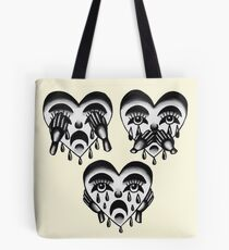 Crying Heart See, Hear, and Speak No Evil  Tote Bag